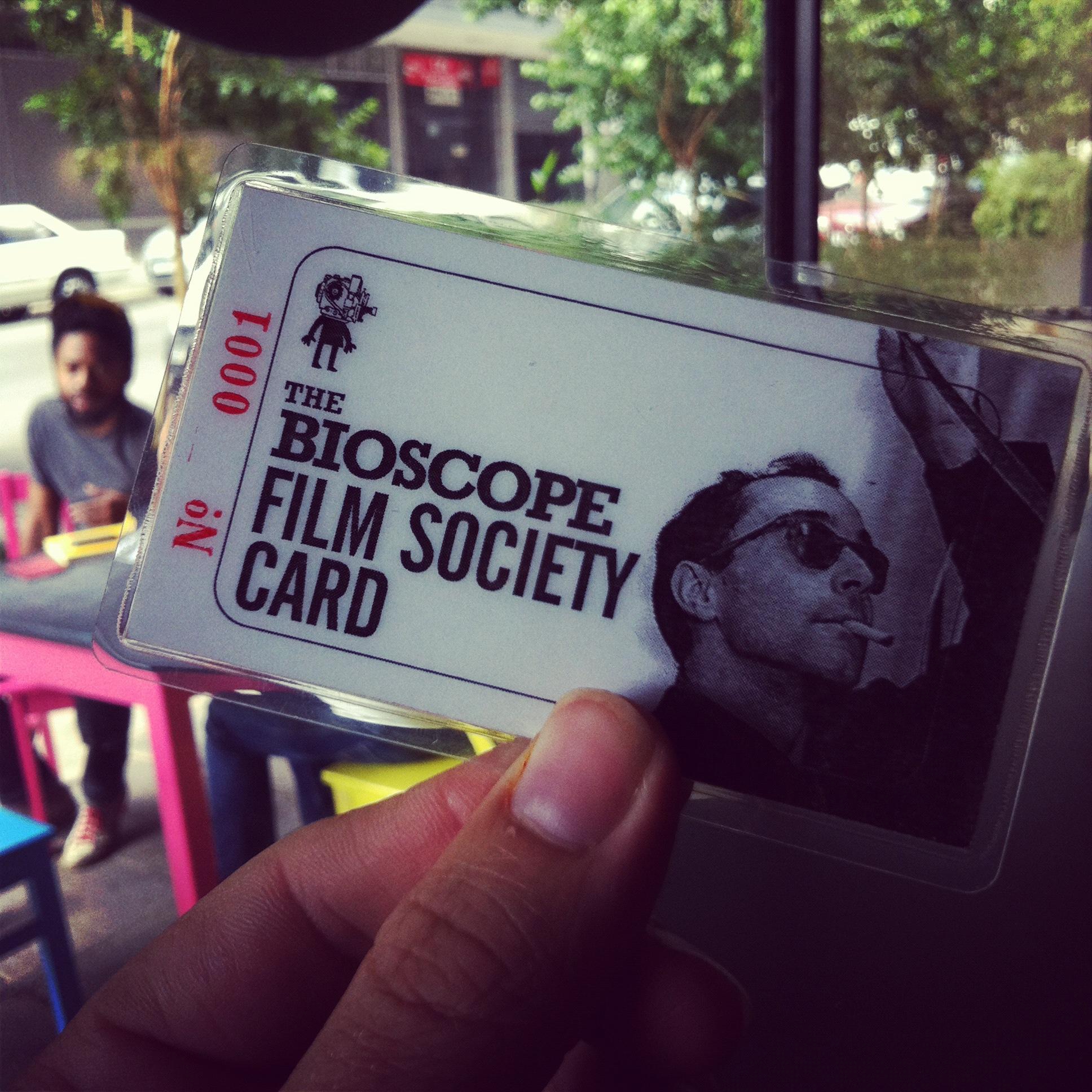 Bioscope Film Society Card
